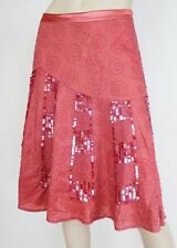 A-Line Hand-wash Only Knee-Length 100% Cotton Skirts for Women