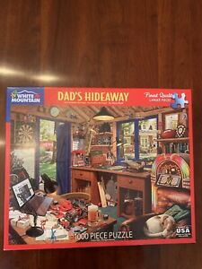 White Mountain 1000 Pc Jigsaw Puzzle DAD'S HIDEAWAY