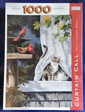 SPILSBURY JIGSAW PUZZLE CURTAIN CALL PERSIS WEIRS KITTENS NEW SEALED 1000 piece