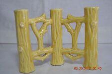 Vintage German Erphila  Fayence Faience Fence Bud Vases