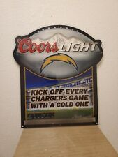 San Diego Chargers Sign.   Coors Light Beer