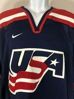 USA Hockey Team Nike Jersey Blue/Red/White Size Medium