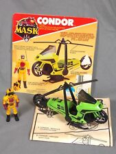 M.A.S.K.CONDOR MOTORCYCLE & FIGURE W/BOX PANEL COMPLETE 1985 MASK KENNER