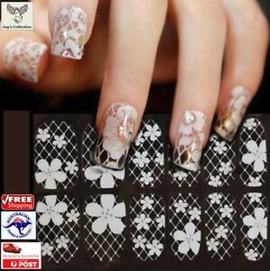 1 Sheet 3D French Style Lace Bow Nail Art Sticker Manicure Tip Decor [A3R~B27]