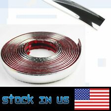 "Chrome Molding Decorative Trim Soft Strip 3/4"" Width For Cars Window Door Guard"