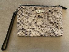 Diane Von Furstenberg (DVF) AUTHENTIC Leather Clutch HandBag Zippered Pouch