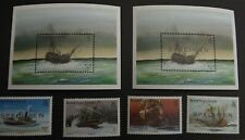 BRITISH VIRGIN ISLANDS  Set SHIPWRECKS SPECIMEN MINI SHEET