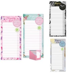 Magnetic Meal Planner & Tear Off Shopping List Note Pad Various  Design 80 sheet