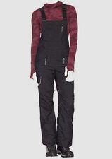 $400 The North Face Women Black Shredromper Freeride Warm Snow Bib Logo Pants XS