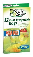 Sealapack 12 Fruit & Vegetable Bags Fresher 4 Longer 2 Different Sizes SAP1042