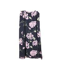 LAURA ASHLEY Size 8 Black Pink Floral Maxi Skirt Vintage 90s