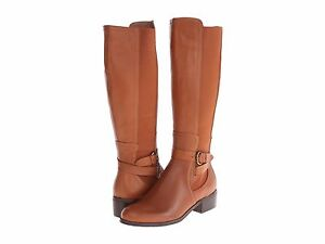 Corso Como Women's Baylee Brown Leather Tall Riding Boots Size 8.5 s11/10