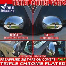 1997-2003 Ford F-150 Triple Chrome Mirror Covers Overlays Trim w/o Turn Signal