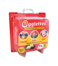 Egglettes Egg Cooker Hard Boiled Eggs without the Shell 4 Egg Cups