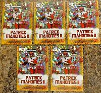 (5) Patrick Mahomes Kansas City Chiefs Limited Edition Cracked Ice Rookie Card