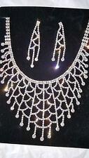 Diamante set - Diamante Necklace & earrings set wedding prom set 31