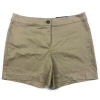 Worthington Modern Fit Womens Shorts Size 10 Desert Khaki Stretch Mid Rise Tan