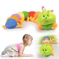 Colorful Inchworm Soft Lovely Caterpillar Pillow Plush Developmental Baby Toy Jʌ
