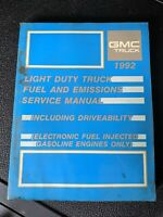1992 GMC Truck Light Duty Fuel And Emissions Service Manual