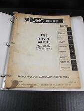 OMC 1966 Stern Drive Repair Service Manual 225 P/N 381432
