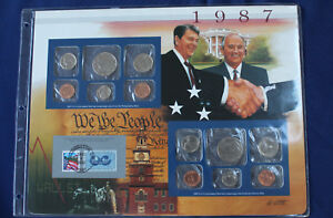 1987 United States Historic Year Panel Coin and Stamp Set PCS E3519