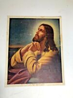 Vtg Print of Lord Jesus Christ on Mount Olive - Old Print by W.C. Co. Tyrone, PA