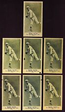 Set of 7 1916 Babe Ruth Rookie Reprint cards with variation backs NY Yankees