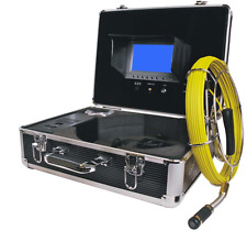 "Sewer Drain Pipe Inspection Camera 7"" LCD Color Display DVR Mic. USB 65FT Cable"