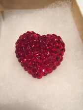 Brooch Jewelry Valentine's Day Quality L-S Louis Stern Red Rhinestone Heart Pin
