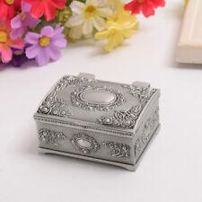 Gothic Square Metal Pearl Ring Box Vintage Antique European Style Jewlery Box
