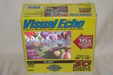 """2004 Hobbico """"Sky Roads"""" Hot Air Balloon Jigsaw Puzzle 3D 500 Piece Visual Echo"""
