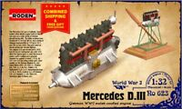 Roden 623 - 1/32 - Engine Mercedes D.III 160 h.p. airplanes Allbatros D.I WWI
