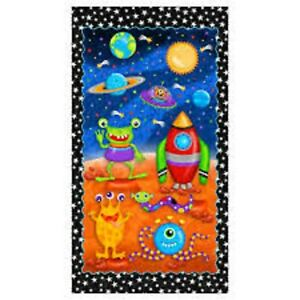 Lost in Space by Sharla Fults PANEL ONLY Quilting Fabric 100% Cotton