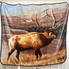 Al Agnew Elk Fleece Blanket Throw Northwest Company Hunting Deer Buck Cabin Farm