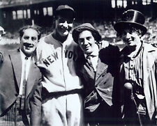 NY Yankees Lou Gehrig 16x20 photo with the Marx Brothers Harpo Groucho Chico **