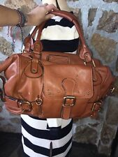Vintage Chloe Leather Purse Shoulder Bag Tote Hobo Brown