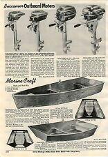 1951 ADVERT Buccaneer Outboard Motor 4 Models Marine Craft Wood Foshing Boats