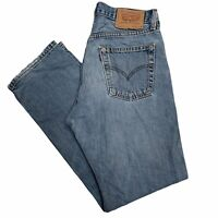 LEVIS 517 Vintage Mens Straight Leg Stonewash Blue Jeans W31 L30 (U605)