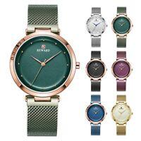 REWARD Luxury Women's Watch Crystal Case Mesh Band Quartz Analog Wristwatch Gift