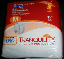 "12 ""All-Through-The-Night"" Adult Medium 32""-44"" hips Briefs MAX diaper baby tabs"