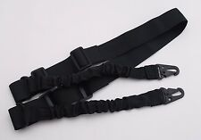 "Rifle Sling - Tactical Quick Release Bungee 2 Point BLACK Adjustable 60""+"
