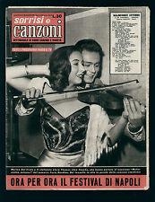 SORRISI CANZONI 21/1957 DEL FRATE FESTIVAL DI NAPOLI FIERRO CIGLIANO TOGLIANI