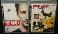 PURE + Tony Hawk's Project 8 - Sony PlayStation 3 PS3 Game Lot Works Tested