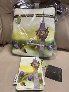 Loungefly Disney Tangled Tower Crossbody Bag & Cardholder Rapunzel Pascal 💥💥