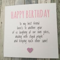 FUNNY BEST FRIEND BIRTHDAY CARD/ BESTIE / HUMOUR/ FUN / SARCASM - Another YP