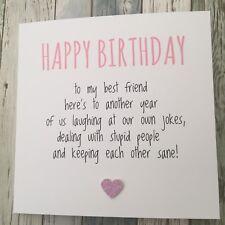 FUNNY BEST FRIEND BIRTHDAY CARD/ BESTIE / HUMOUR/ FUN / SARCASM - Another YP