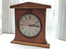 Vintage  Grecian style  Wall / Mantel  Quartz  Clock  in  teak wooden  frame