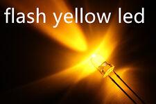 10xa0705 flash 3mm yellow LEDs, automatisch blinkende gelbe leds.ogeled leds