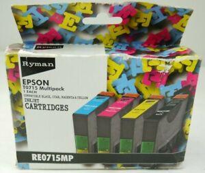 Epson T0175 Multipack Compatible Ryman T0715 Black Cyan Magento Yellow Cartridge