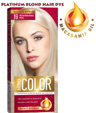 PLATINUM BLOND HAIR COLOR CREAM DYE with MACADAMIA OIL Blonde Colour Colorant